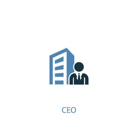 CEO concept 2 colored icon. Simple blue element illustration. CEO concept symbol design. Can be used for web and mobile