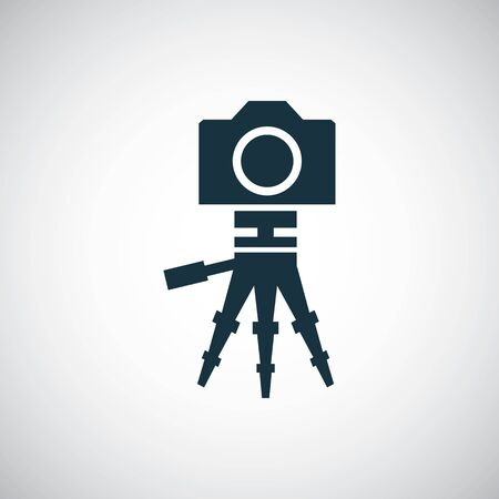 camera tripod icon for web and UI on white background