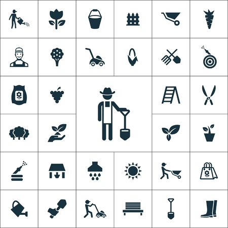 gardening icons universal set for web and UI