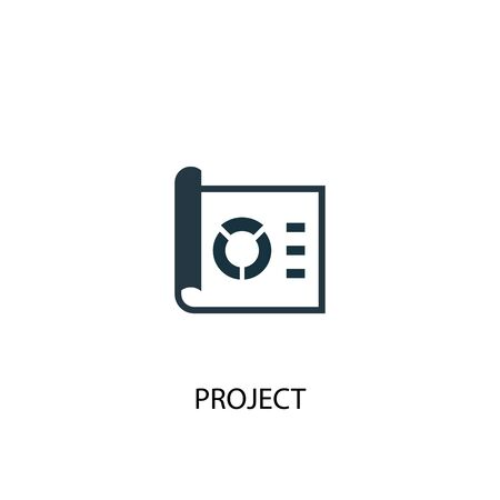 icône du projet. Illustration d'élément simple. conception de symbole de concept de projet. Peut être utilisé pour le Web Vecteurs