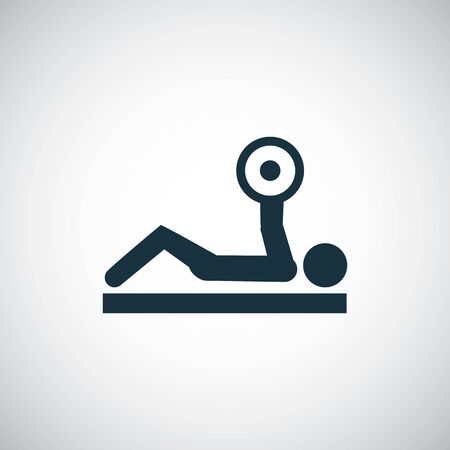barbell bench press icon simple flat element concept design