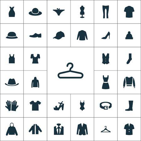 set universale di icone di vestiti