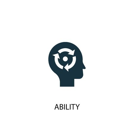 ability icon. Simple element illustration. ability concept symbol design. Can be used for web and mobile.