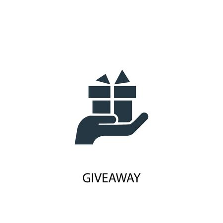 giveaway icon. Simple element illustration. giveaway concept symbol design. Can be used for web