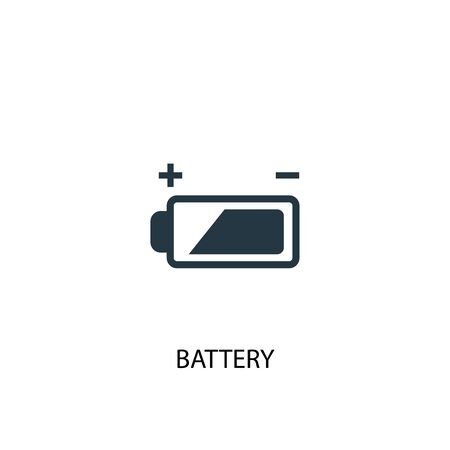 battery icon. Simple element illustration. battery concept symbol design. Can be used for web