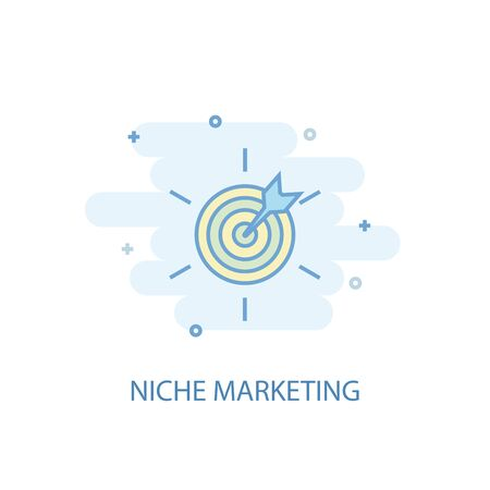 Niche Marketing line concept. Simple line icon, colored illustration. Niche Marketing symbol flat design. Can be used for UI