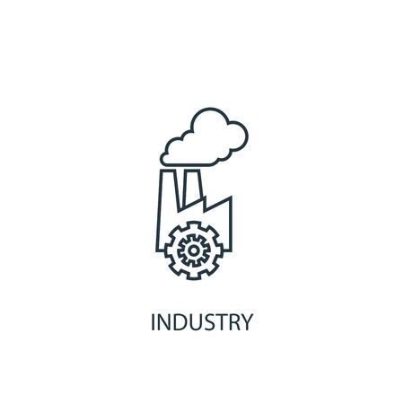 industry concept line icon. Simple element illustration. industry concept outline symbol design. Can be used for web and mobile Illusztráció