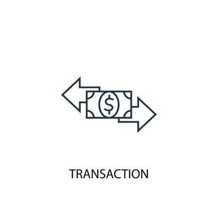transaction concept line icon. Simple element illustration. transaction concept outline symbol design. Can be used for web and mobile