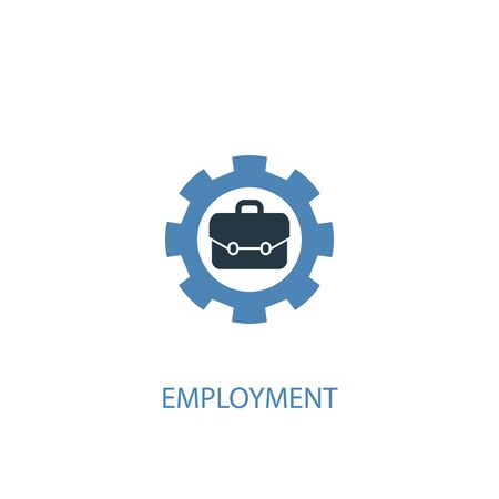 employment concept 2 colored icon. Simple blue element illustration. employment concept symbol design. Can be used for web and mobile  イラスト・ベクター素材
