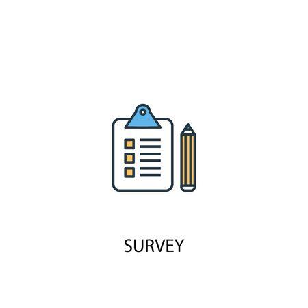 survey concept 2 colored line icon. Simple yellow and blue element illustration. survey concept outline design