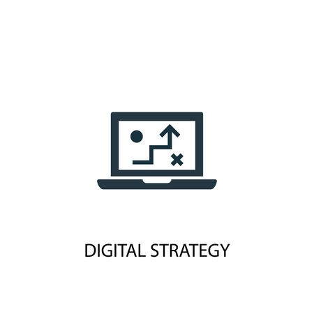 digital strategy icon. Simple element illustration. digital strategy concept symbol design. Can be used for web