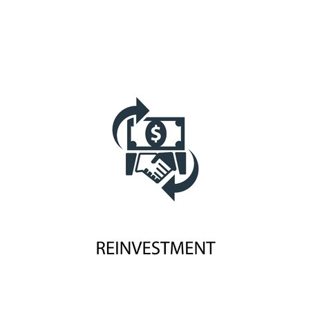 reinvestment icon. Simple element illustration. reinvestment concept symbol design. Can be used for web