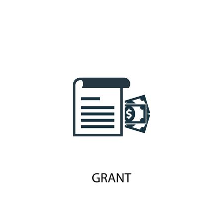 grant icon. Simple element illustration. grant concept symbol design. Can be used for web and mobile. Illustration