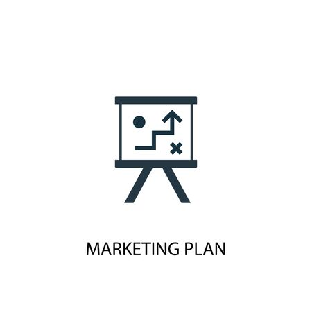 marketing plan icon. Simple element illustration. marketing plan concept symbol design. Can be used for web and mobile. Illusztráció