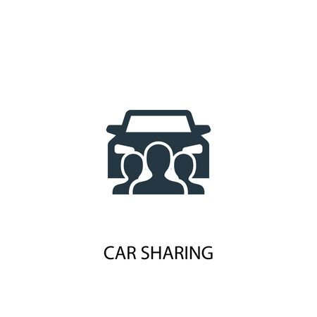 car sharing icon. Simple element illustration. car sharing concept symbol design. Can be used for web Stock Vector - 133748584