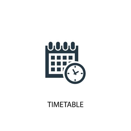 timetable icon. Simple element illustration. timetable concept symbol design. Can be used for web Stock Illustratie