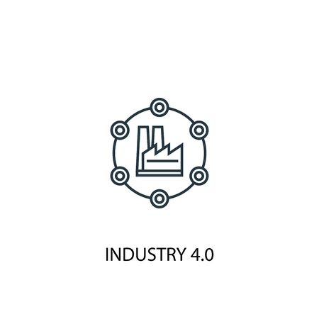 Industry 4.0 concept line icon. Simple element illustration. Industry 4.0 concept outline symbol design. Can be used for web and mobile