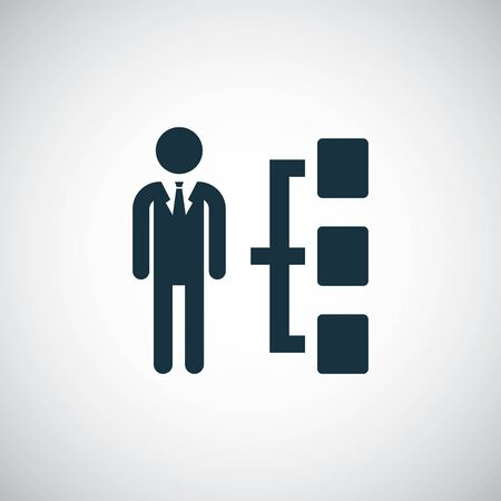 man structure icon simple flat element design concept Illustration