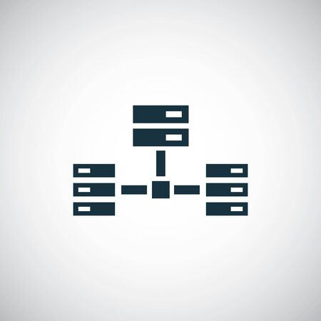 server network icon trendy simple concept symbol design Illustration