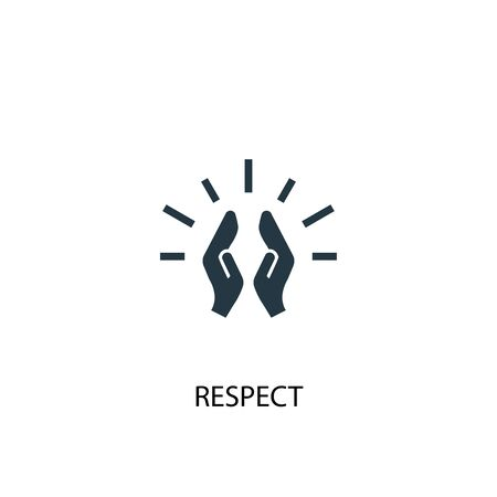 respect icon. Simple element illustration. respect concept symbol design. Can be used for web  イラスト・ベクター素材