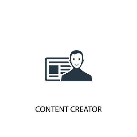 content creator icon. Simple element illustration. content creator concept symbol design. Can be used for web