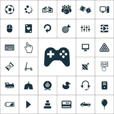 game icons universal set for web and UI Illusztráció