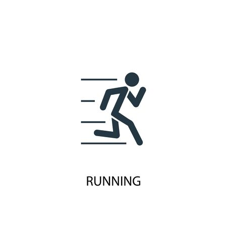 running icon. Simple element illustration. running concept symbol design. Can be used for web
