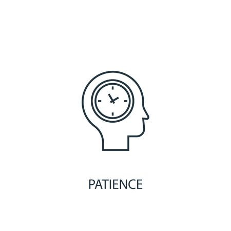 patience concept line icon. Simple element illustration. patience concept outline symbol design. Can be used for web and mobile