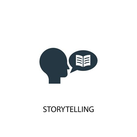 storytelling icon. Simple element illustration. storytelling concept symbol design. Can be used for web