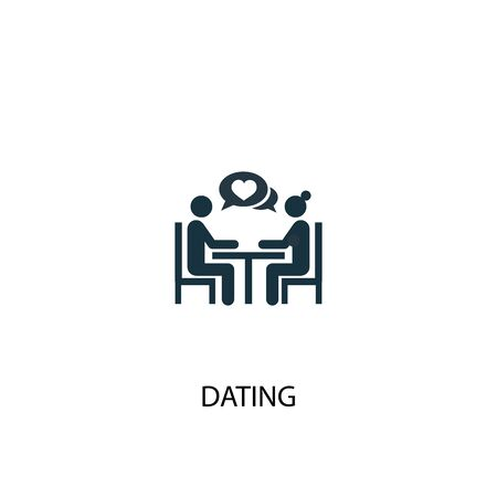 Dating icon. Simple element illustration. Dating concept symbol design. Can be used for web and mobile.