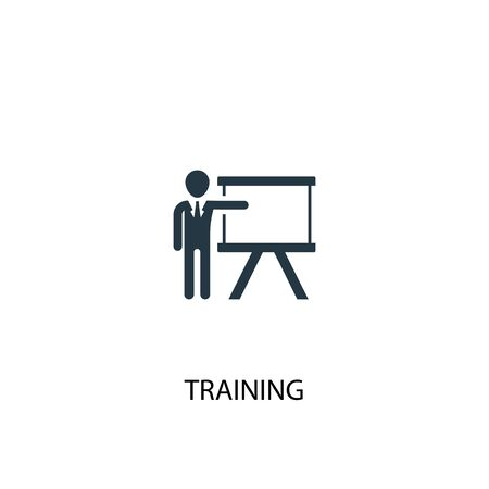 training icon. Simple element illustration. training concept symbol design. Can be used for web Banco de Imagens - 133748880