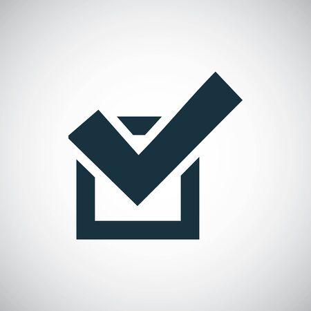 확인 아이콘 간단한 평면 요소 컨셉 디자인 벡터 (일러스트)