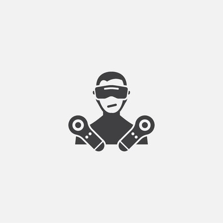 VR game base icon. Simple sign illustration. VR game symbol design. Can be used for web, and mobile