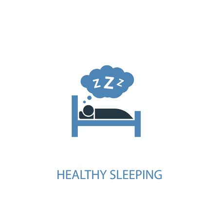 healthy sleeping concept 2 colored icon. Simple blue element illustration. healthy sleeping concept symbol design. Can be used for web and mobile