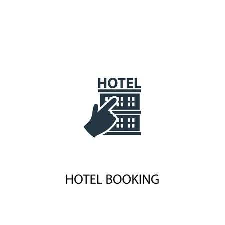 hotel booking icon. Simple element illustration. hotel booking concept symbol design. Can be used for web Illusztráció