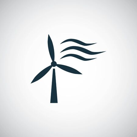 wind power icon simple flat element concept design