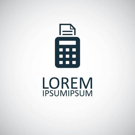 pos terminal icon simple flat element design concept Ilustrace