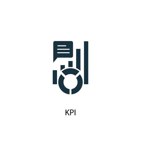 KPI icon. Simple element illustration. KPI concept symbol design. Can be used for web Иллюстрация