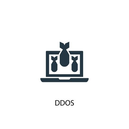 DDOS icon. Simple element illustration. DDOS concept symbol design. Can be used for web