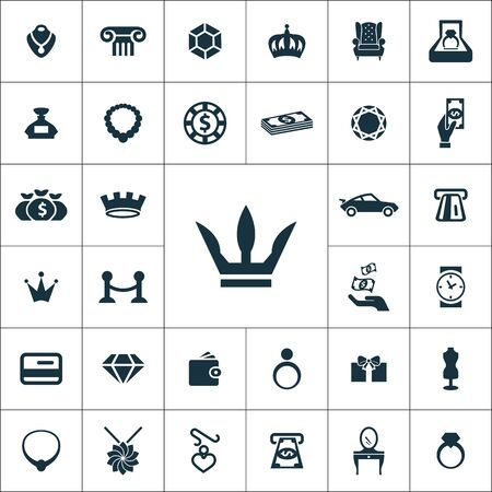 luxury icons universal set for web and UI Stock Vector - 133748962