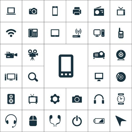 device icons universal set for web and UI