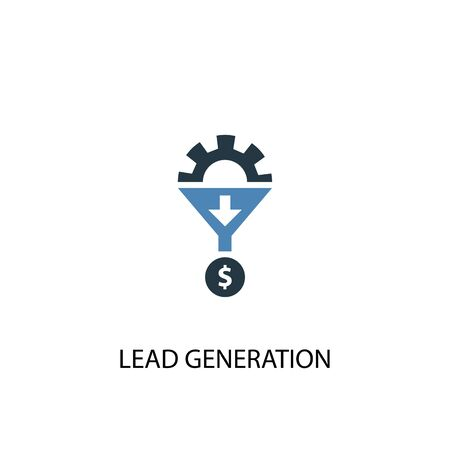 Lead Generation concept 2 colored icon. Simple blue element illustration. Lead Generation concept symbol design. Can be used for web and mobile