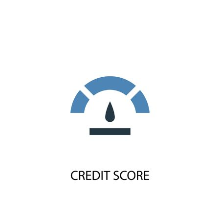 Credit score concept 2 colored icon. Simple blue element illustration. Credit score concept symbol design. Can be used for web and mobile