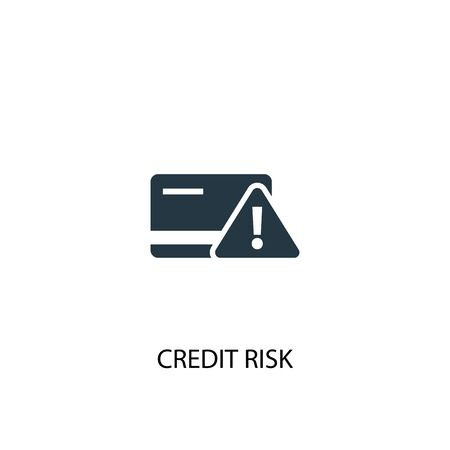 Credit risk icon. Simple element illustration. Credit risk concept symbol design. Can be used for web