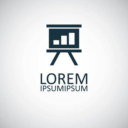board diagram icon simple flat element design concept