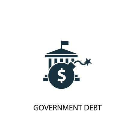 Government debt icon. Simple element illustration. Government debt concept symbol design. Can be used for web  イラスト・ベクター素材