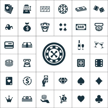 casino icons universal set for web and UI