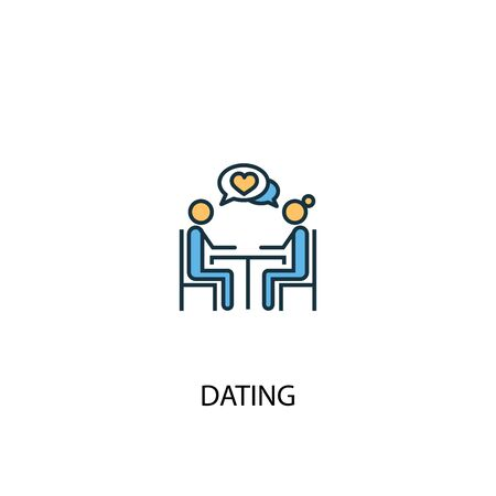 Dating concept 2 colored icon. Simple blue element illustration. Dating concept symbol design. Can be used for web and mobile