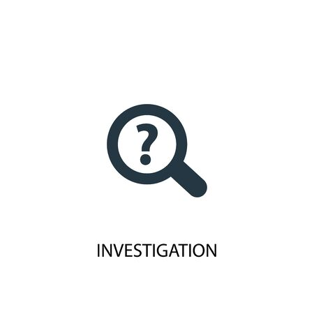 investigation icon. Simple element illustration. investigation concept symbol design. Can be used for web