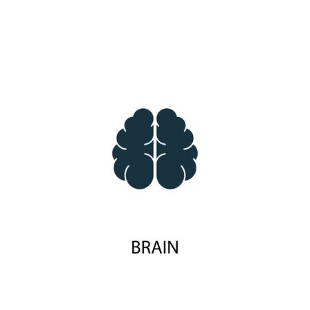 brain icon. Simple element illustration. brain concept symbol design. Can be used for web